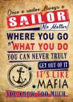 Metal Signs - SAILOR MAFIA
